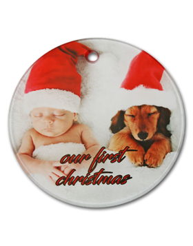 Clear Satin Round Glass Ornament